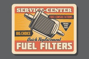 Fuel filter replacement retro sign